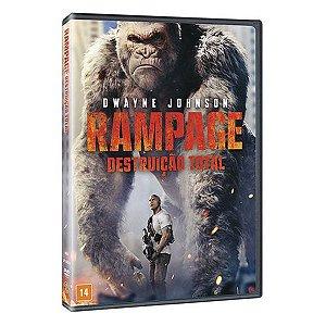 DVD Rampage Destruição Total - Dwayne Johnson