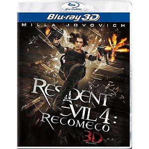 Blu-Ray 3D/2D  - Resident Evil 4: Recomeço