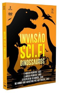 DVD DUPLO INVASÃO SCI-FI - DINOSSAUROS