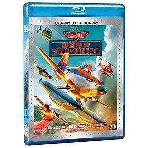 Blu Ray 3D + Blu Ray  Aviões 2 Herois Do Fogo Ao Resgate