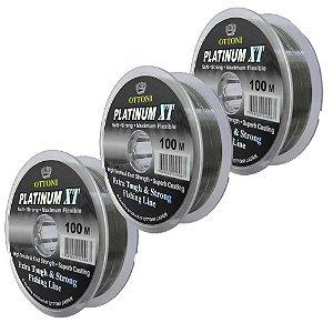 Kit Linha Monofilamento Platinum XT - 0,60, 0,70, 0,90mm
