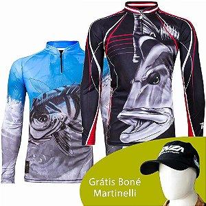 Camiseta King Sublimada Kf 106 M + Camiseta King Sublimada Kf 109 G + Grátis Boné Martinelli