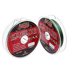 200m Linha Safari Max Multi 100m 0,20mm 30lb 13,5kg Verde contínuos