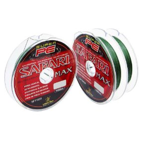 300m Linha Safari Max Multi 100m 0,26mm 48lb 21,7kg Verde contínuos