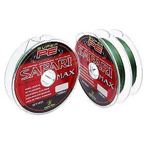200m Linha Safari Max Multi 100m 0,26mm 48lb 21,7kg Verde contínuos