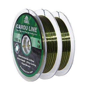 200m Linha Monofilamento Camou Line 0,35mm contínuos