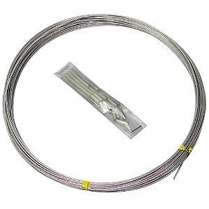 Cabo de aço flexível 15lb 10m c/ 50 luvas