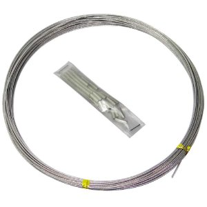Cabo de aço flexível 10lb 10m c/ 50 luvas
