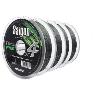 400m Linha Marine Sports Saigon X4 Green 0,37mm 55lb Multifilamento