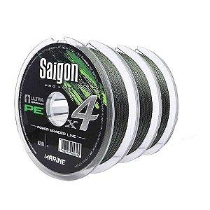 300m Linha Marine Sports Saigon X4 Green 0,28mm 40lb Multifilamento