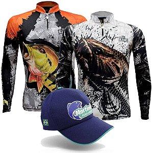 Camiseta King Sublimada Kff 600 EX + Camiseta King Sublimada Kf 630 Ex + Grátis Boné Martinelli