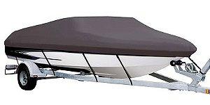 Capa de proteção para lanchas de fibra até 19 pés (lona nylon 600) (com console) - Fabricamos para todas as marcas e modelos.