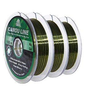 300m Linha Monofilamento Camou Line 0,30mm contínuos
