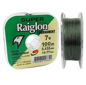 Linha Monofilamento Super Raiglon 0,435mm 7.0 100m Cor: Verde
