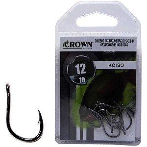Anzol Crown Koiso Black 12 c/ 10 un.