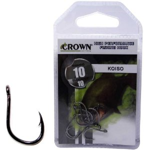Anzol Crown Koiso Black 10 c/ 10 un.