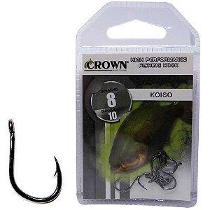 Anzol Crown Koiso Black 08 c/ 10 un.