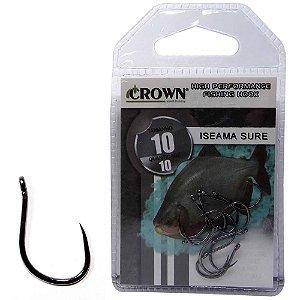 Anzol Crown Iseama Sure Black 10 c/ 10 un.