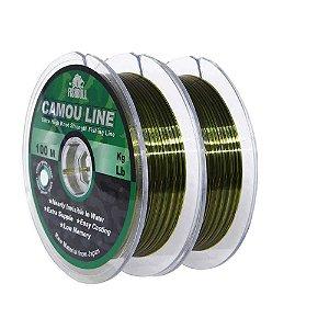200m Linha Monofilamento Camou Line 0,50mm contínuos