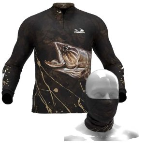 Camiseta de Pesca Presa Viva Traira 04 - G + Breeze Buff Presa Viva Traira 04