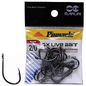 Anzol Pinnacle Live Bait 3x N 2/0 c/ 20 un.