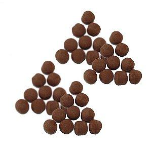 Kit 40 Flutuador Bolinha Chocolate
