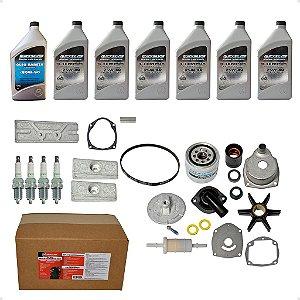 Kit completo para manutenção Revisão do motor Mercury 150 HP 4T 300 Horas