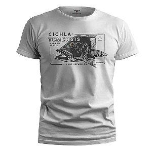 Camiseta Presa Viva Casual Line Tucuna Açu 02 100% Algodão Branco Exg