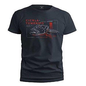 Camiseta Presa Viva Casual Line Tucuna Açu 01 100% Algodão Chumbo Gg