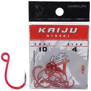 Anzol Maruri Kaiju H16401 Inline Red 4 c/ 10 un.