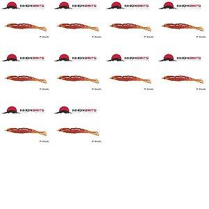 10 Isca artificial Camarão JET Shrimp Nihon 8,7cm POLAQUINHO