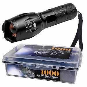 1 Lanterna Tática Militar Martinelli 1000 Led T6-G2 Nova Geração + Potente + Estojo à prova dágua
