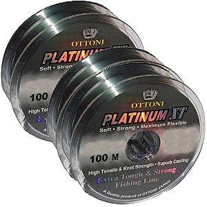 1 Linha Monof Platinum XT - 0,15mm - 100m e 2-0,40mm- 100m