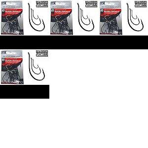 1x Anzol MS Marus Black 08 + 1x 10 + 1x 14 + 1x 18 com 50 un