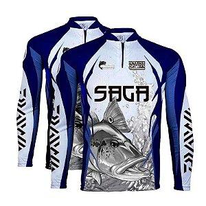1x Camiseta de Pesca King - Saga - Tam: 02 - M + 1x Tam G