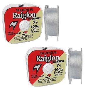 1x Linha Monofilamento Supe Raiglon 0,310mm 100m + 1x 0,33mm