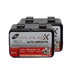 200 Chumbinho CBC Calibre 6.0mm Six Expansivo Double-X