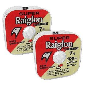 200m Linha Monofilamento Super Raiglon 0,310mm