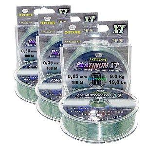 200m Linha Mono Platinum XT 0,60mm + 100m linha multi 0,35mm