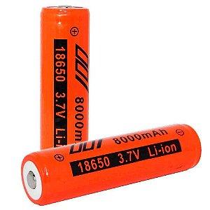 2 Bateria Recarregável 18650 8000mah 3,7V Li-ion c/ Chip
