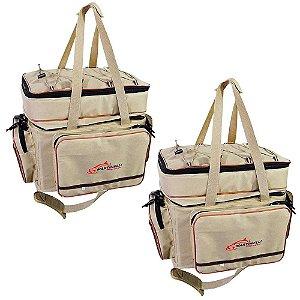 2 Bolsa de Pesca Martinelli Pro Team - tamanho: GG cor: bege