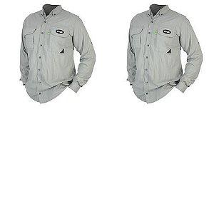 2 Camisa MTK Sky manga longa UVA e UVB Tam: G Cor: platina