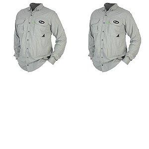 2 Camisa MTK Sky manga longa UVA e UVB Tam: M Cor: platina