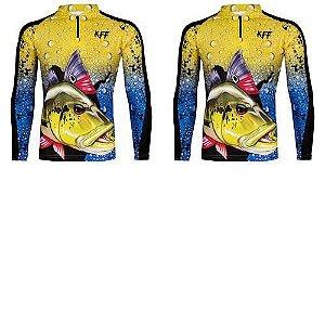 2 Camiseta de Pesca King 60 - Tucunaré - Tam: 05 - EX