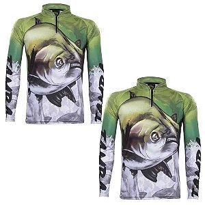 2 Camiseta de Pesca King Atack Tamba - tam: M
