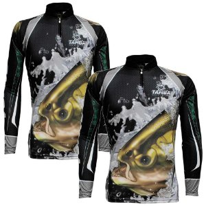 2 Camiseta de Pesca King Sublimada Kff 304 - Tam. G