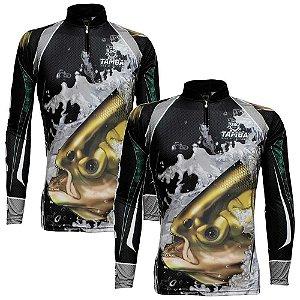 2 Camiseta de Pesca King Sublimada Kff 304 - Tam. M