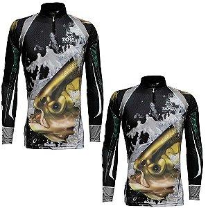 2 Camiseta de Pesca King Sublimada Kff 304 - Tam. P
