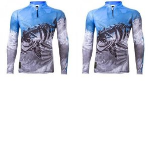 2 Camiseta de Pesca King Viking 06 - tam: EX