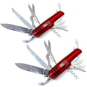 2 Canivete vermelho multifuncional 11 Funções tipo Suíço